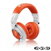 HD-1200 Professional White & Orange DJ Headphones